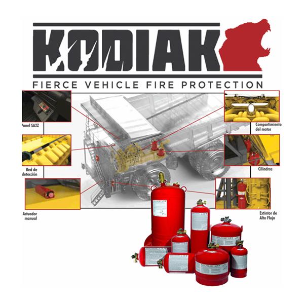 Sistemas contra incendio de vehiculos Kodiak